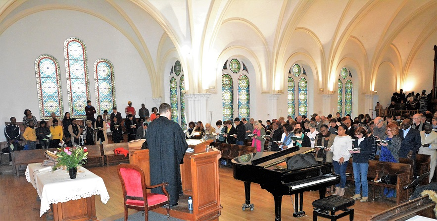 Culte animé par les Jeunes 08-04-2018 au Temple Paris-Batignolles (reportage)