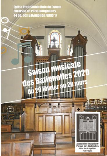 Saison musicale 2020 à Batignolles