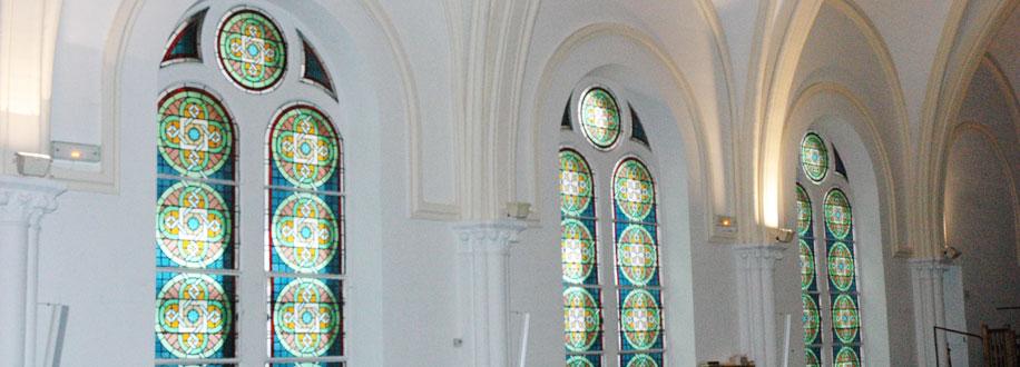 vitraux de l'église de Batignolles