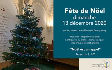 «Noël est un appel» – Fête de Noël