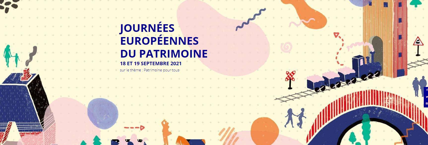 Journées Européennes du Patrimoine 2021 - 18 & 19 sept
